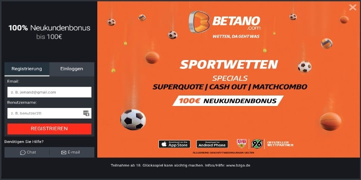 Betano Sportwetten Bonus